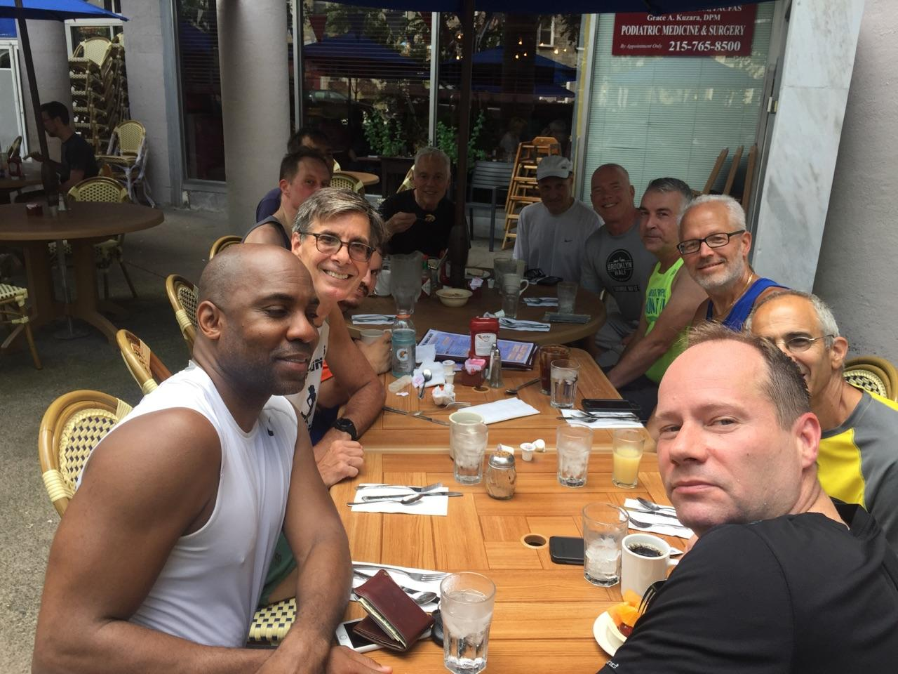 Brunch at Little Pete's after a hot run - 7/16/2017