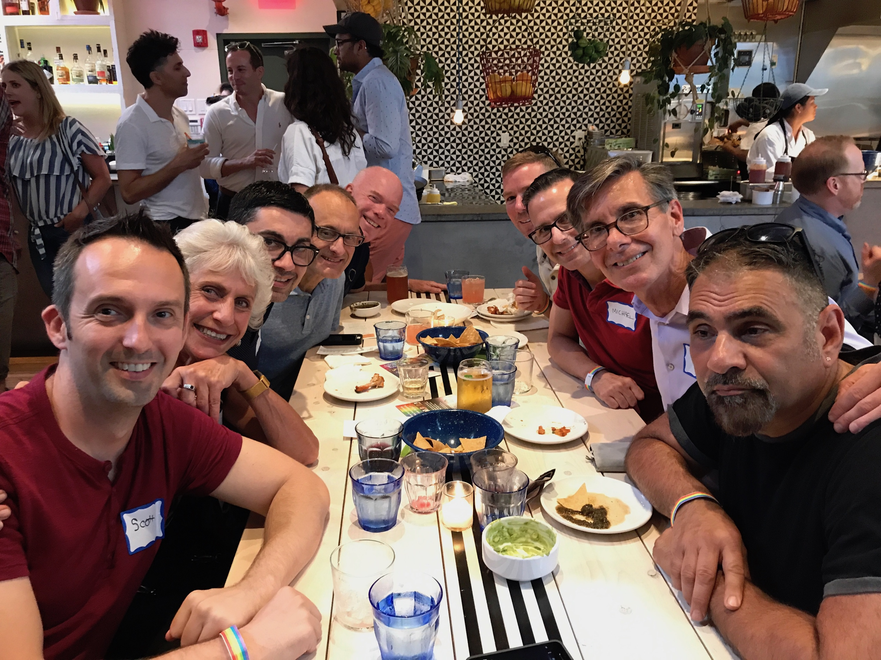 Phila Front Runners at Mission Taqueria for DVLF Event 7/11/2017